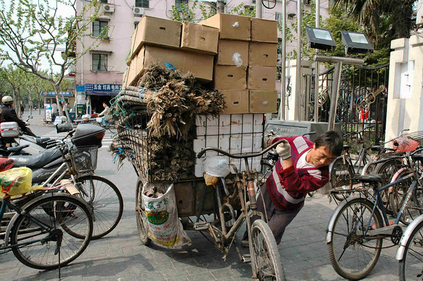 China's industriousness and determination shows even amongst humble market vendors in Shanghai  ©Gerald Diamond All rights reserved