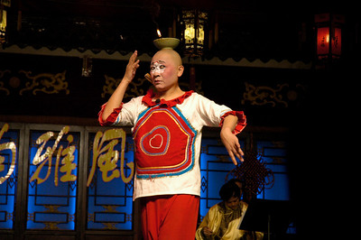 Comedy performer - Xian, China  ©Gerald Diamond All rights reserved