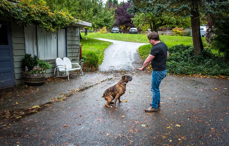 Chris Taylor and his dog