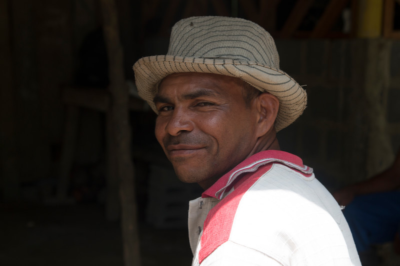 Andrés is a well-known leader from the Caño Manso Humanitarian Zone, in the Curvaradó collective territory. He told the delegation the story of his displacement and return to the Humanitarian Zone. He also told us that they receive numerous threats for claiming the titles to their lands, but that they continue to hope their land will be returned to them.