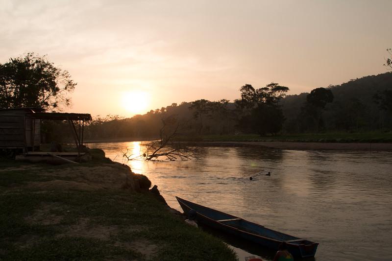 Daybreak in the Jiguamiandó river basin, Chocó department.