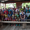 The Christian Aid delegation and the team from the Inter-Church Justice and Peace Commission with leaders from the Caño Manso Humanitarian Zone. This Zone was created in 2013.<br /> Also present were some Embera Katio indigenous families from the Jaikerazabi indigenous territory (municipality of Mutata) who were recently displaced due to the violent situation in their territory and given refuge in the Humanitarian Zone.