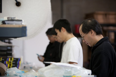 Jason, Takeshi, Kiyoshi and Dave working hard at my studio.