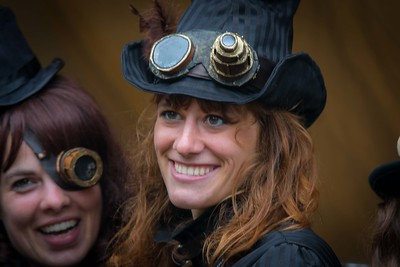 Cidre et Dragon, a Fantasy/Steam Punk street festival in Merville, Normandy France. October 2014