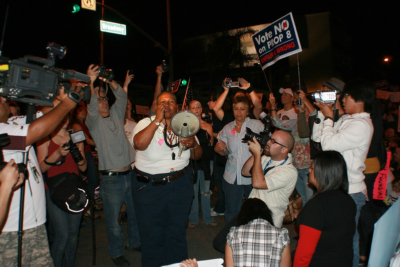 Anti Prop 8 Rally the night before the Prop 8 Verdic.. Long Beach CA