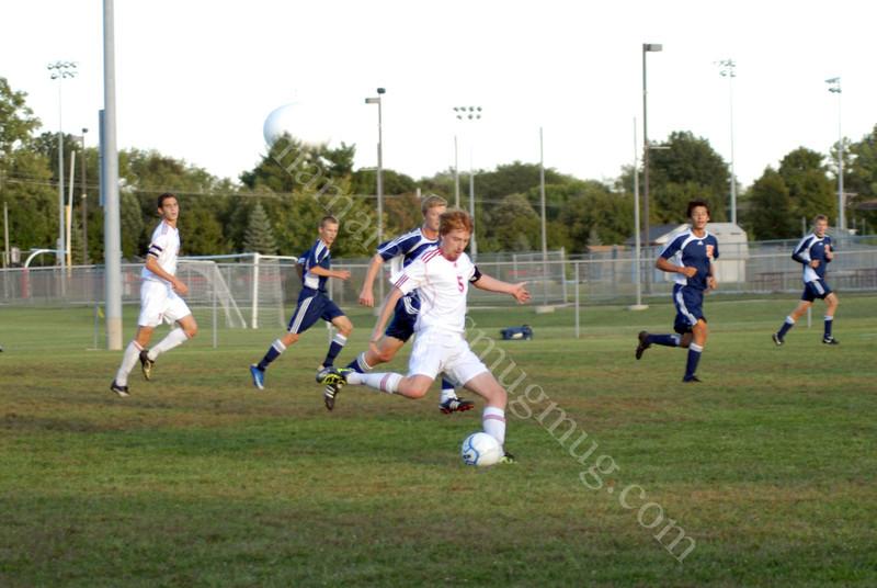 #5 Brian<br /> High School Soccer<br /> September 15, 2011<br /> Harrison Raiders<br /> vs<br /> West Lafayette Red Devils