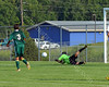 Harrison vs Westfield - August 20, 2013 - High School Soccer Game - Diving Save by the keeper