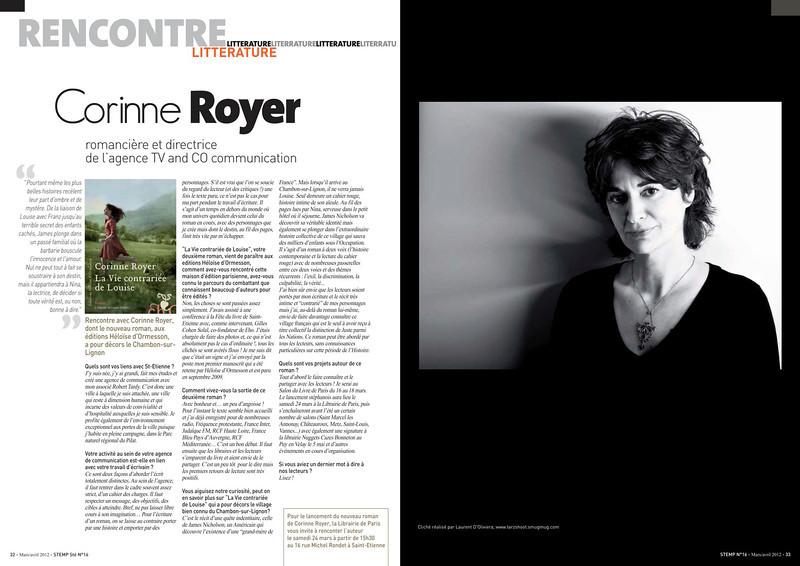 Portrait de Corinne Royer,