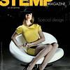 Photo de couverture du magazine Stemp Magazine:<br />     - Photo: Tarzshoot<br />     - Model: Charlène (Agence VIP models, à Lyon)<br />     - Fauteuil: Nuage de Roche Bobois<br />     - Robe et chapeau: Les folies d'Amélie<br />     - Lieu: Novaciéries, Saint-Chamond