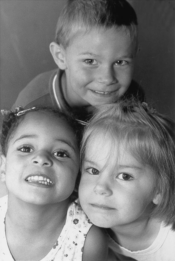 3 kids close up