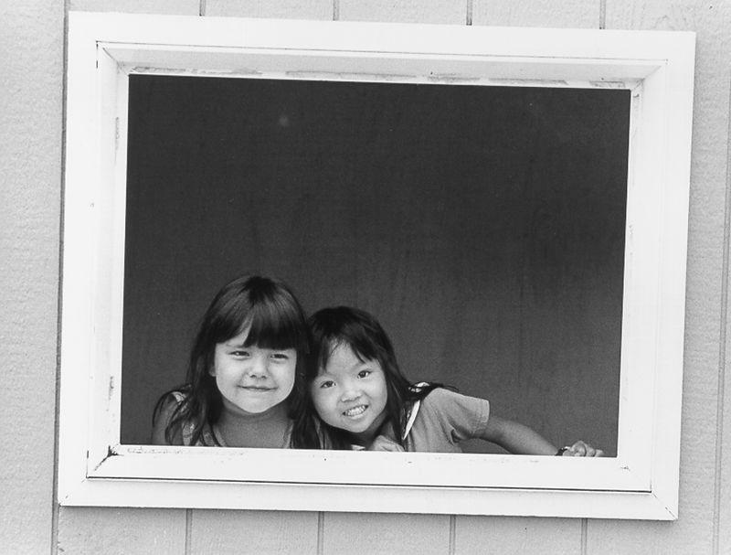 2 girls framed