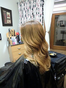 Permanent color with balayage highlights and ombre techniques PamPerry