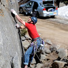 "Adam Brink climbs up one of the routes at Castle Rock Sunday afternoon.<br /> For more than 50 years, no one has done any maintenance to the pullout loop by Castle Rock in Boulder Canyon. That's because land management agencies all thought it was the other guys' problem. Turns out, its Boulder County's problem ( in part), so now the open space department is proposing some upgrades to the area.<br /> For more photos of climbing, go to  <a href=""http://www.dailycamera.com"">http://www.dailycamera.com</a>.<br /> Cliff Grassmick / March 18, 2012"