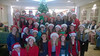 Phoenixville Hospital patients and staff were treated to a holiday concert by the Phoenixville Area Middle School Vocal Ensemble in December. PAMS Music Teacher Amy Darby and the 50-member student choral group sang Christmas carols, spread some holiday cheer, and delivered holiday cards. <br /> <br /> Submitted by Phoenixville Hospital