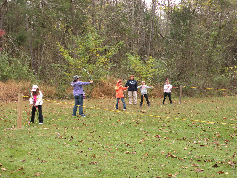 Members of Junior Girl Scout Troop 1854 were taught the sport of Archery during their camping weekend at Camp Laughing Waters in Gilbertsville.  Their instructor was Jen Haber, a Girl Scout leader in the Boyertown Service Unit of GSEP. The girls were also taught campfire cooking by their leaders Ginny Harze and Sandy Dotterer.  Geocaching was also experienced by the troop under the leadership of Kutztown University student, Rachel Harze.<br /> <br /> Submitted photo