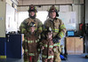 Schwenksville Elementary Kindergarteners visited the Schwenksville Fire Company during Fire Prevention Week.  During their visit they learned what to do in case of a fire.  They were also able to see the special clothes that firefighters wear and get an up-close look at a fire truck.  Pictured are:  Jordan Pulli and Riley Kelly<br /> <br /> Submitted by Schwenksville Elementary School