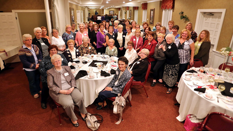 "The Nor-Chester Opti-Mrs Ladies Club celebrated their 50 year anniversary on September 26, 2013 with a dinner at Cutillo's Restaurant in Pottstown. It was followed by a program called ""Hysterical Historical Hats"", which benefits Delta Kappa Gamma Beta Society, M U Chapter.<br /> <br /> Submitted by Bonnie L. Anderson"