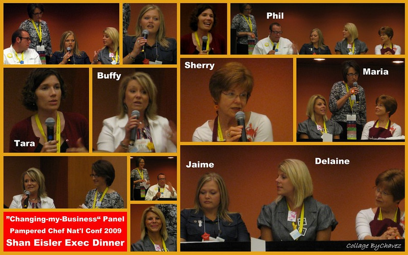 At Pampered Chef's National Conference, each Executive Director has an evening dinner with their entire Team of Consultants.  Kodak moments from a moving panel discussion / July, 2009.