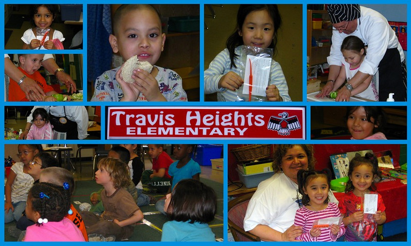 "My daughter-in-law, Rosie, teaches Pre-K at Travis Heights Elementary.  This was Career Day where I did ""Chef"" demonstrations for several classes / Feb, 2009"