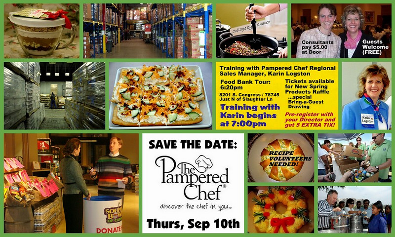 Advertising for Fall Pampered Chef Home Office Training, scheduled for September 2009 at the office of the Capital Area Food Bank, who we support year-round with our Round-Up for the Heart contributions.