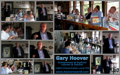 Gary Hoover, founder of Hoover's Inc spoke to our Wednesday Networking lunch Group, Austin Business Referral Association in June, 2009