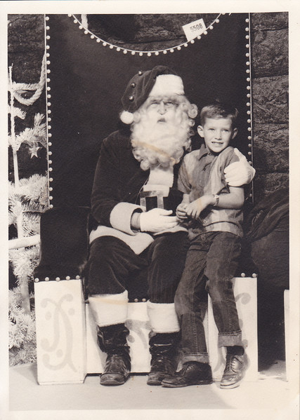 Ricky Connors with Santa around 1963