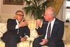 "P.M. YITZHAK RABIN SPEAKING WITH MR. HENRY        KISSINGER IN NEW YORK.<br /> <br /> ביקור ראש הממשלה יצחק רבין בניו יורק, ארה""ב.                                     בצילום, פגישת ראש הממשלה רבין עם ד""ר הנרי קיסינג'ר, בניו יורק."