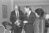 "PRES. CHAIM HERZOG ACCOMPANIED BY HIS WIFE AURA   DURING THEIR COURTESY CALL ON NEW YORK MAYOR EDWARD KOCH    AFTER THEIR ARRIVAL IN THE U.S.A.<br /> <br /> ביקור נשיא המדינה חיים הרצוג ורעייתו אורה בארה""ב.                                בצילום, נשיא המדינה ורעייתו עם ראש עיריית ניו יורק אדוארד קוץ'."