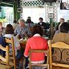 Los Angeles Group in Cafe Brasil - Petaloid (Janene) & Lars(Publickman) facing camera