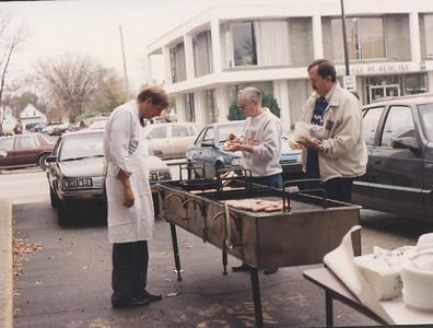 United Way Luncheon,left, Coop Hudnutt, Ed Murphy, Gary Cozart, 1991