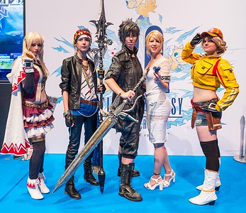 Final Fantasy cosplayers at Gamescom 2017