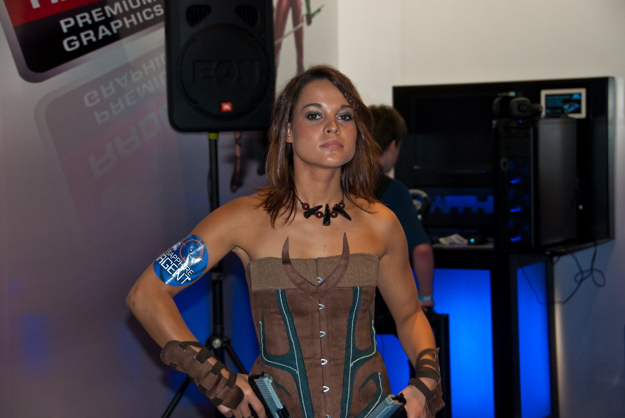 Sapphire booth-babe at Gamescom
