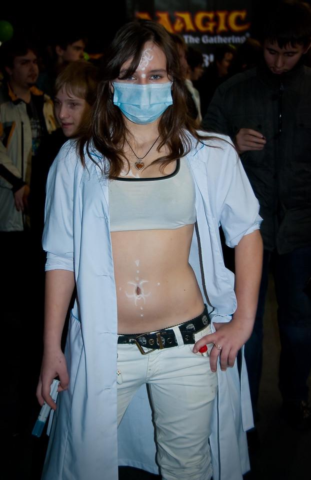 Nurse girl at Igromir 2009