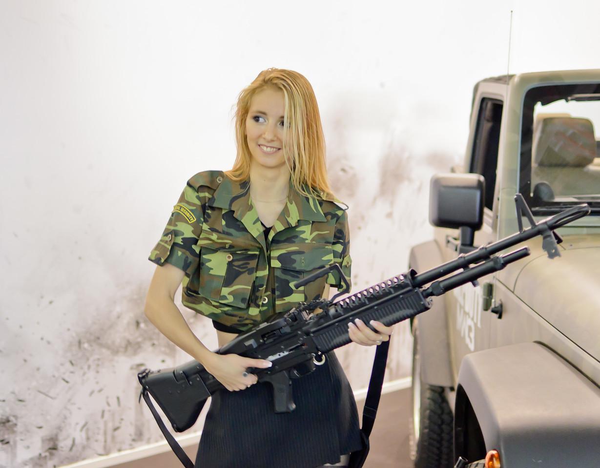 Call of Duty: Modern Warfare 3 girl at Igromir 2011