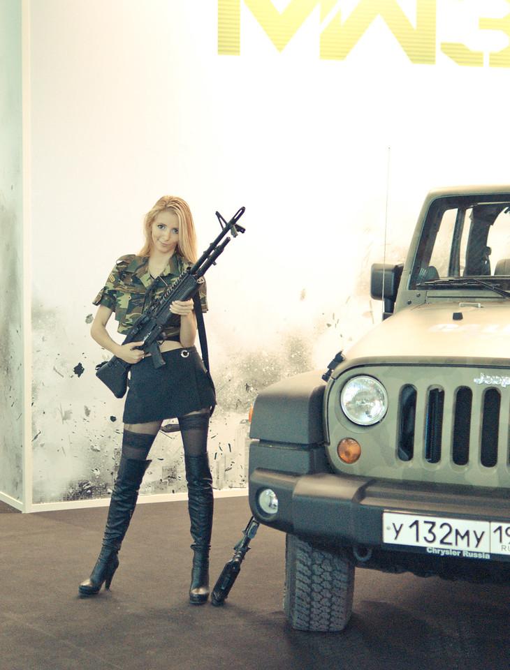Call of Duty Modern Warfare 3 girl at Igromir 2011