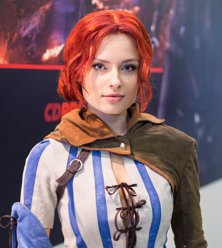 Kristina as Triss from Witcher 3 at Igromir 2013