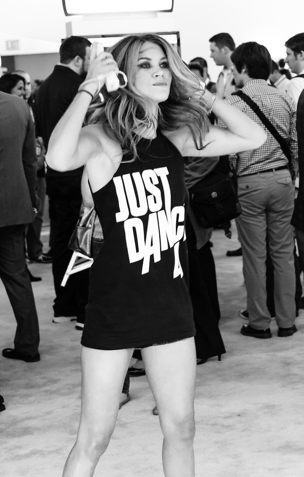 Just Dance 4 girl at E3 2012