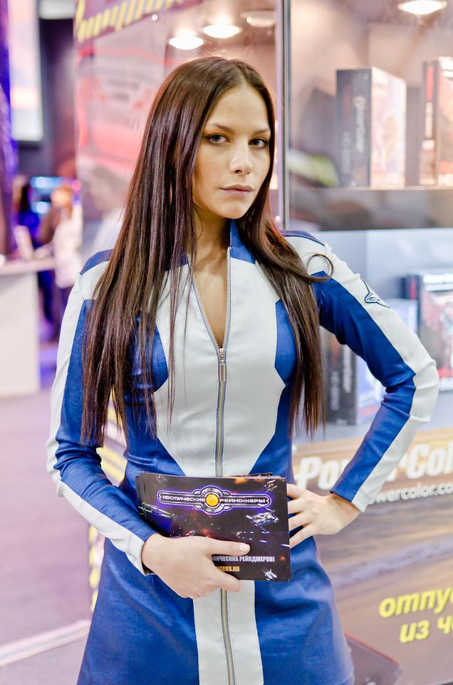 Space Rangers girl at Igromir 2011