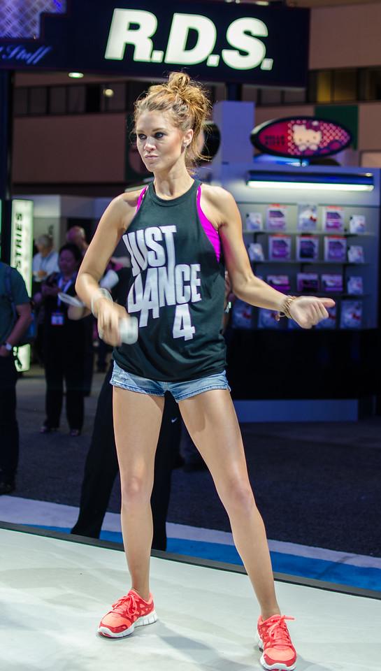 Dancing girl at E3 2012