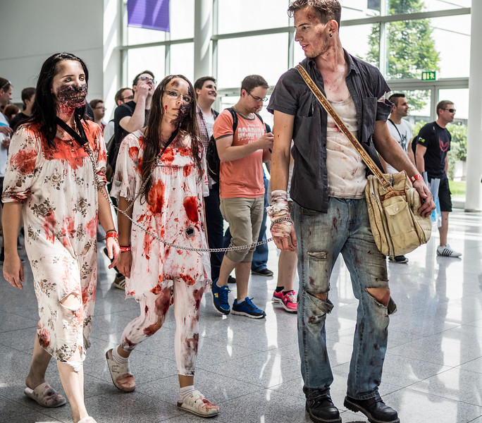 Zombie cosplayers at Gamescom 2015