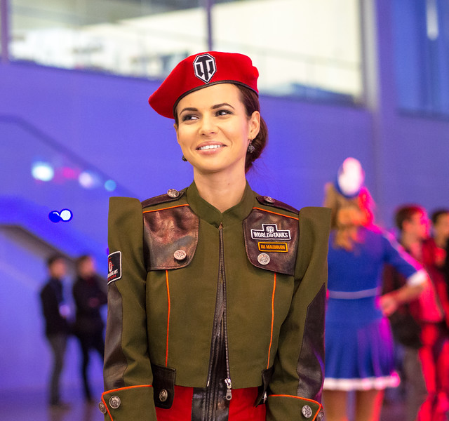 Promo girl at Igromir 2013