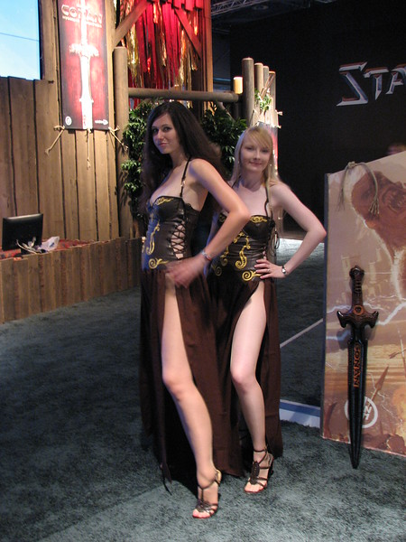 Age of Conan babes on Games Convention 2008