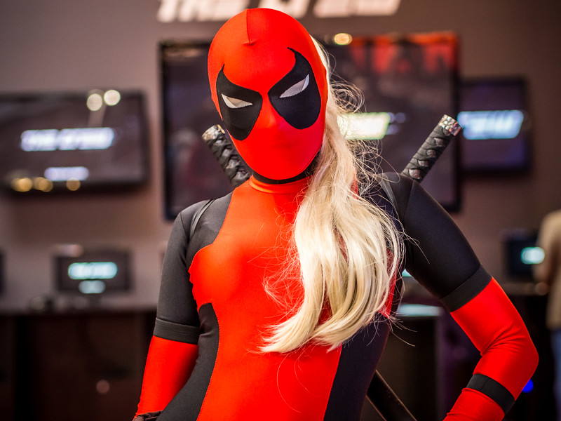 Lady Deadpool cosplay at Igromir 2013