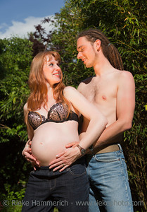 Young Couple flirting and awaiting a Baby – Germany, Europe