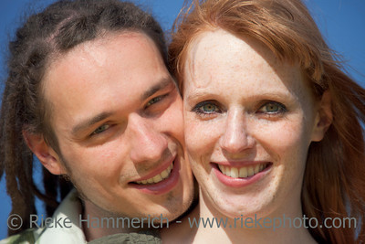 Young Couple Portrait against blue Sky – Germany, Europe