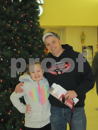 Corey Moody and his daughter Rachel were out doing some holiday shopping.
