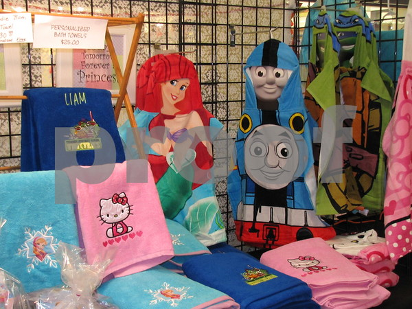 Handmade items offered at one of the seasonal booths.