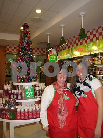 Lisa Irving and Shae Blum, employees of Bath & Body.