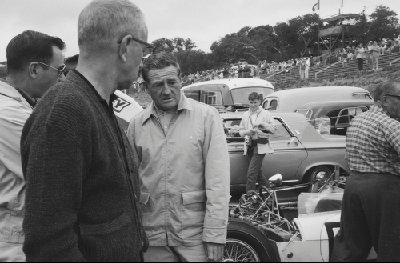 Briggs Cunningham (center) at the Monterey Pacific Grand Prix, 1963 (Photo credit: Duke Q. Manor Photograph Collection, Revs Institute)
