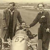 Ray Martin looks very pleased with his work after Stirling Moss takes victory on the Kieft's first outing, Goodwood May 1951.